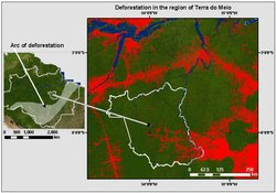 Arc of Deforestation in the region of Terra do Meio. (Source: Philip M. Fearnside)