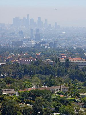 Figure 4. Smog over Los Angeles, California. (Source: PD Photo.org)