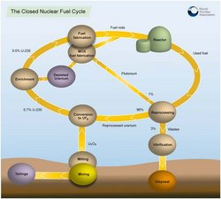 The closed nuclear fuel cycle.