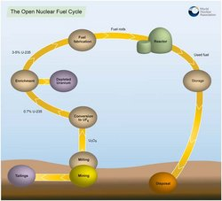 The open nuclear fuel cycle.