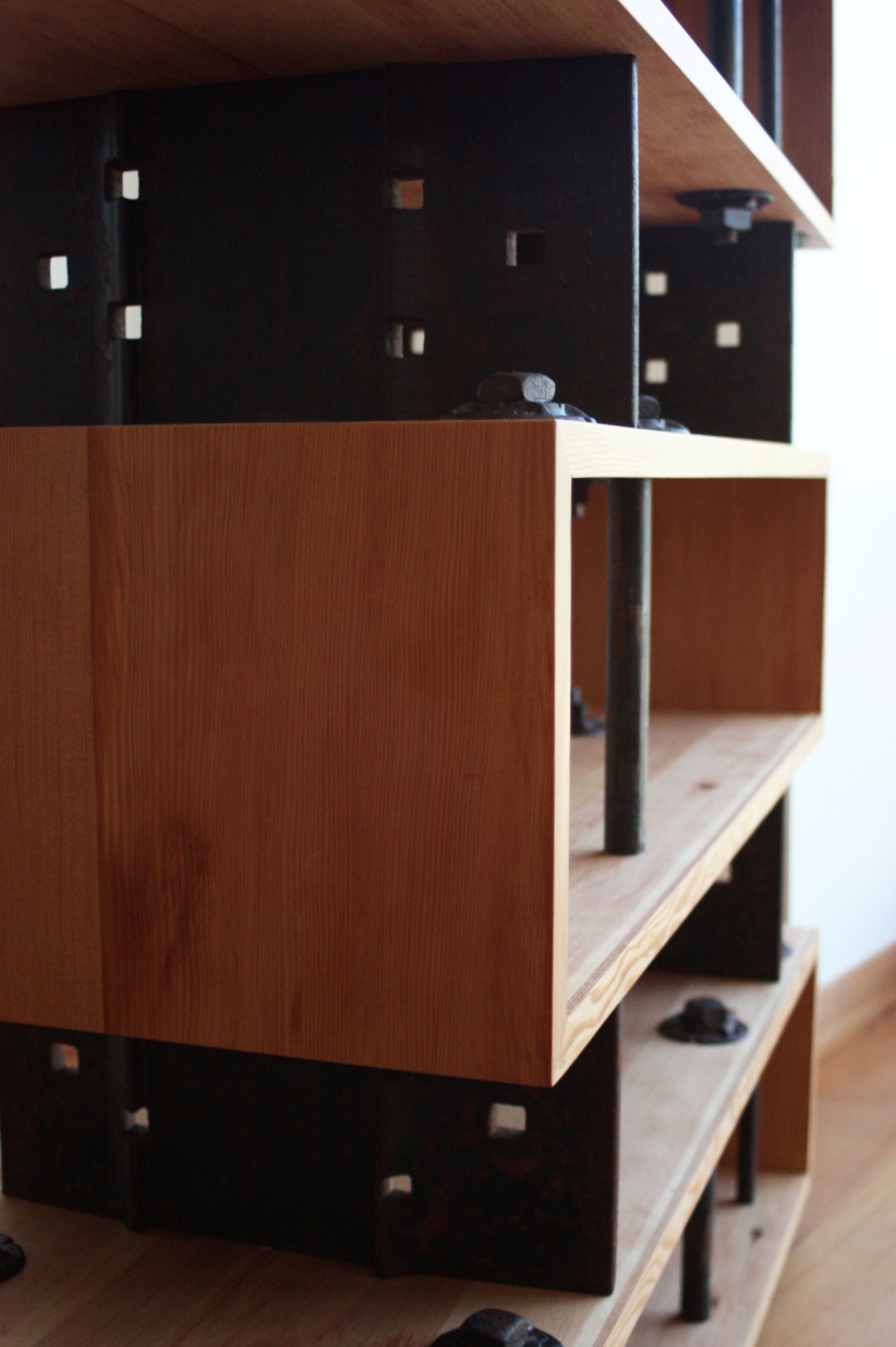 Cube Shelves Upcycle Industrial Bookcase With Drawers