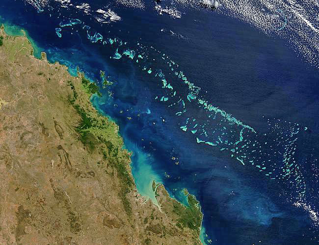 Great Barrier Reef from space. Source: NASA